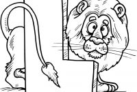 Lion and Lamb Coloring Pages - Colouring Page Of Letter L with A Lion School Africa