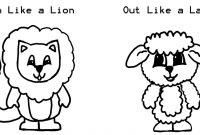 Lion and Lamb Coloring Pages - Lion and Lamb Coloring Pages Democraciaejustica