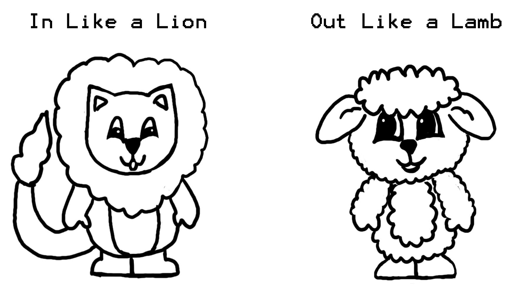 Lion and Lamb Coloring Pages  Collection 9o - Free Download