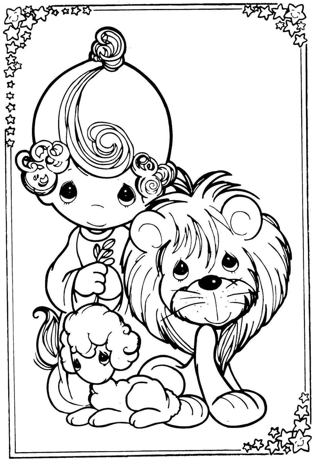 Lion and Lamb Coloring Pages  Collection 14e - Free Download