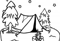 Lsu Coloring Pages - Camping Night Stars Coloring Page Wecoloringpage