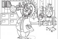 Mad Scientist Coloring Pages - Mad Coloring Pages