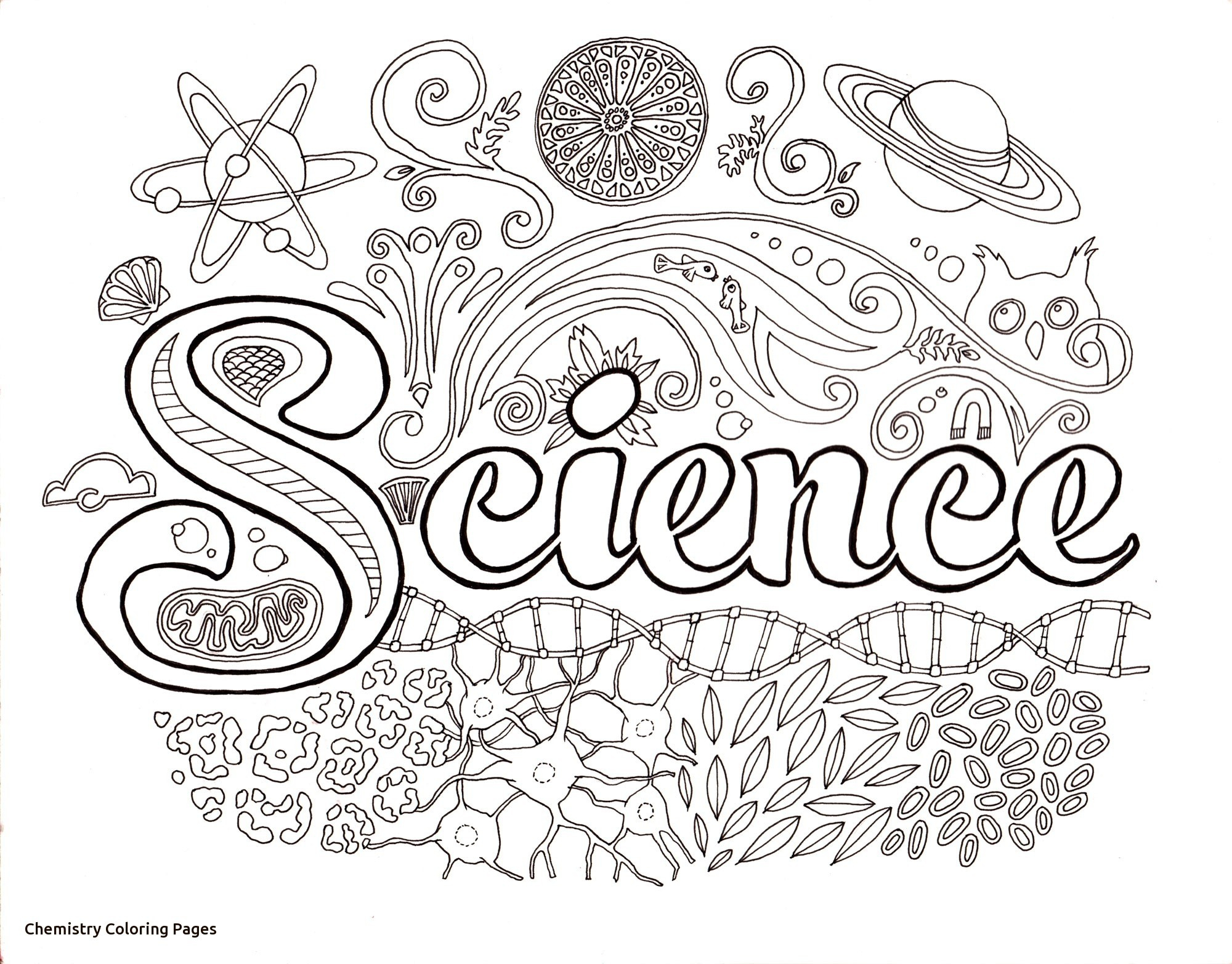 Mad Scientist Coloring Pages  Collection 3s - To print for your project