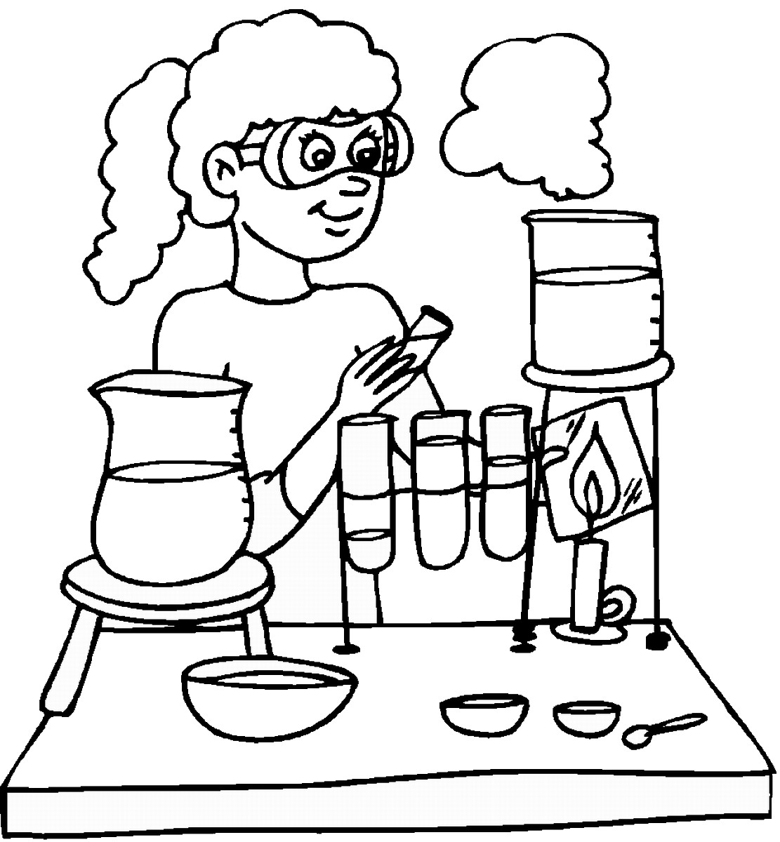 Mad Scientist Coloring Pages  Collection 6i - Free Download