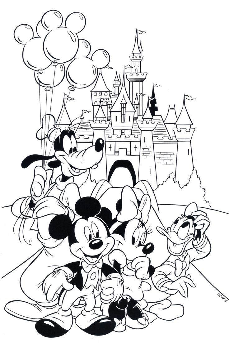 Magic Kingdom Coloring Pages  to Print 1j - Free For Children