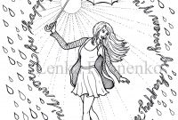 Magic Kingdom Coloring Pages - Coloring Page Happy Rain Adult Coloring Pages Art therapy