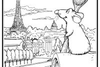 Magic Kingdom Coloring Pages - Ratatouille S Remy In Paris Coloring Page Coloring
