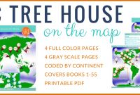 Magic Tree House Coloring Pages - Read Around the World with the Magic Tree House Map