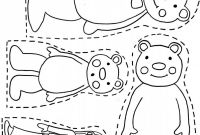 Magnet Coloring Pages - 3 Bears Printable Want Use to Make Magnet Board Pieces for