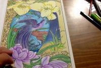 Marty Noble Coloring Pages - Peaceful World by Marty Noble Adult Coloring Book Part 2 One