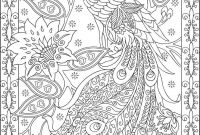 "Marty Noble Coloring Pages - Peacock Adult Coloring Page"" Quote Via Azcoloring Several"