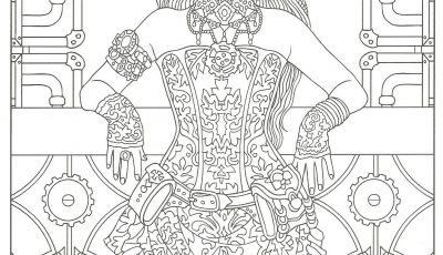 Marty Noble Coloring Pages - Steampunk Adult Coloring Artwork by Marty Noble Creative Haven