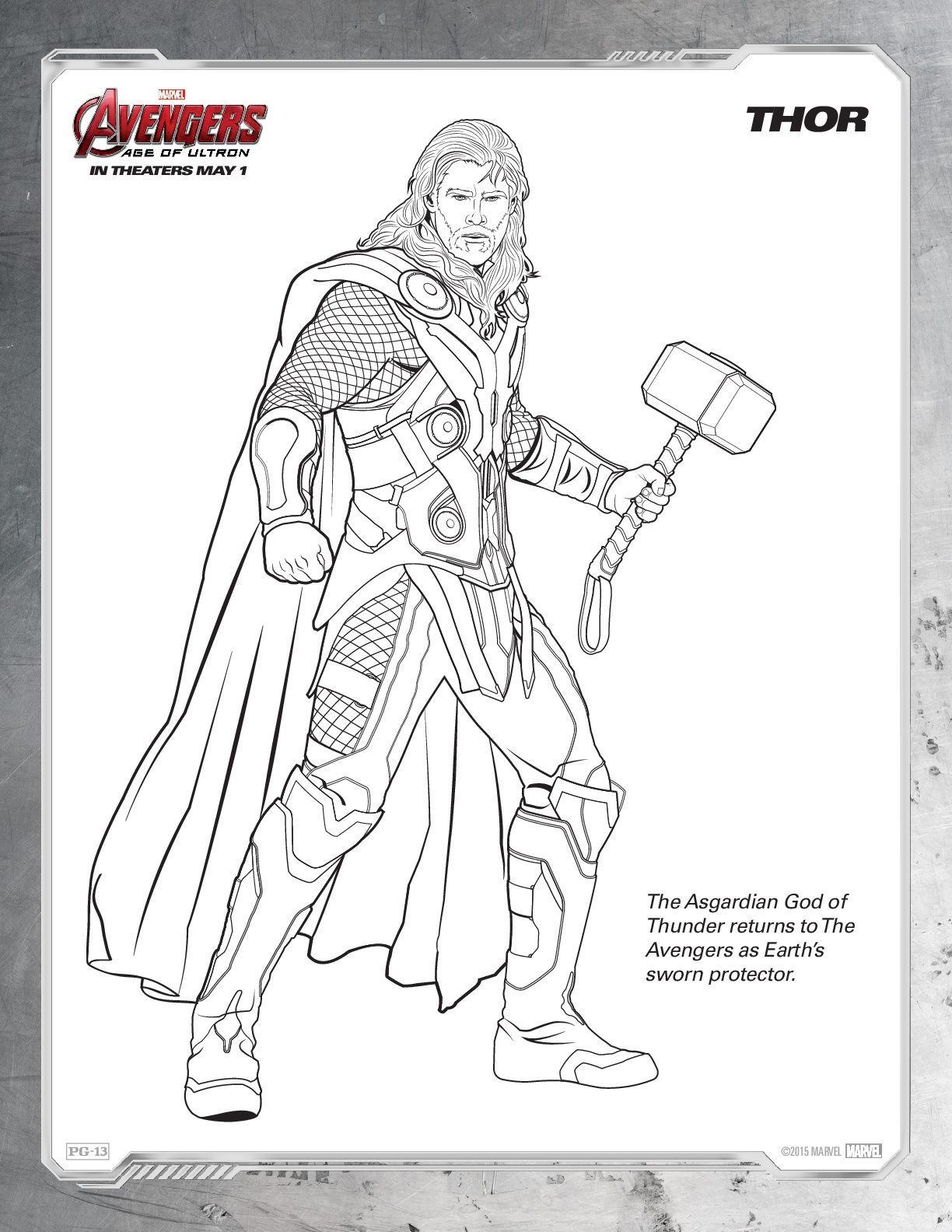 Marvel Coloring Pages for Kids  Printable 13g - Free For kids
