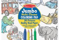 Melissa and Doug Coloring Pages - Jumbo Kids Coloring Pad Space Sharks Sports and More Pack Of