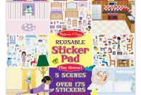 Melissa and Doug Coloring Pages - Melissa & Doug Reusable Sticker Pad Play House Curious Kids