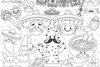 Mexican Independence Day Coloring Pages - Mexican Stamps Digi Stamp Digital Stamp Mexico Coloring Page
