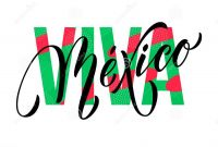 Mexican Independence Day Coloring Pages - Viva Mexico Lettering Independence Day Mexican Vector National