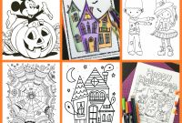 Mini Coloring Pages - Free Halloween Coloring Pages for Adults & Kids Happiness is Homemade