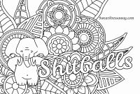 Mini Coloring Pages - Free Swear Word Coloring Pages for Adults