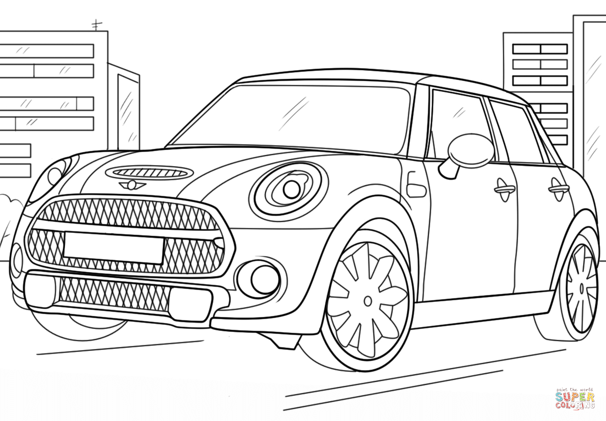 Mini Cooper Coloring Pages  Collection 8r - Free Download