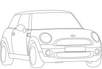 Mini Cooper Coloring Pages - Mini Cooper Coloring Sheets