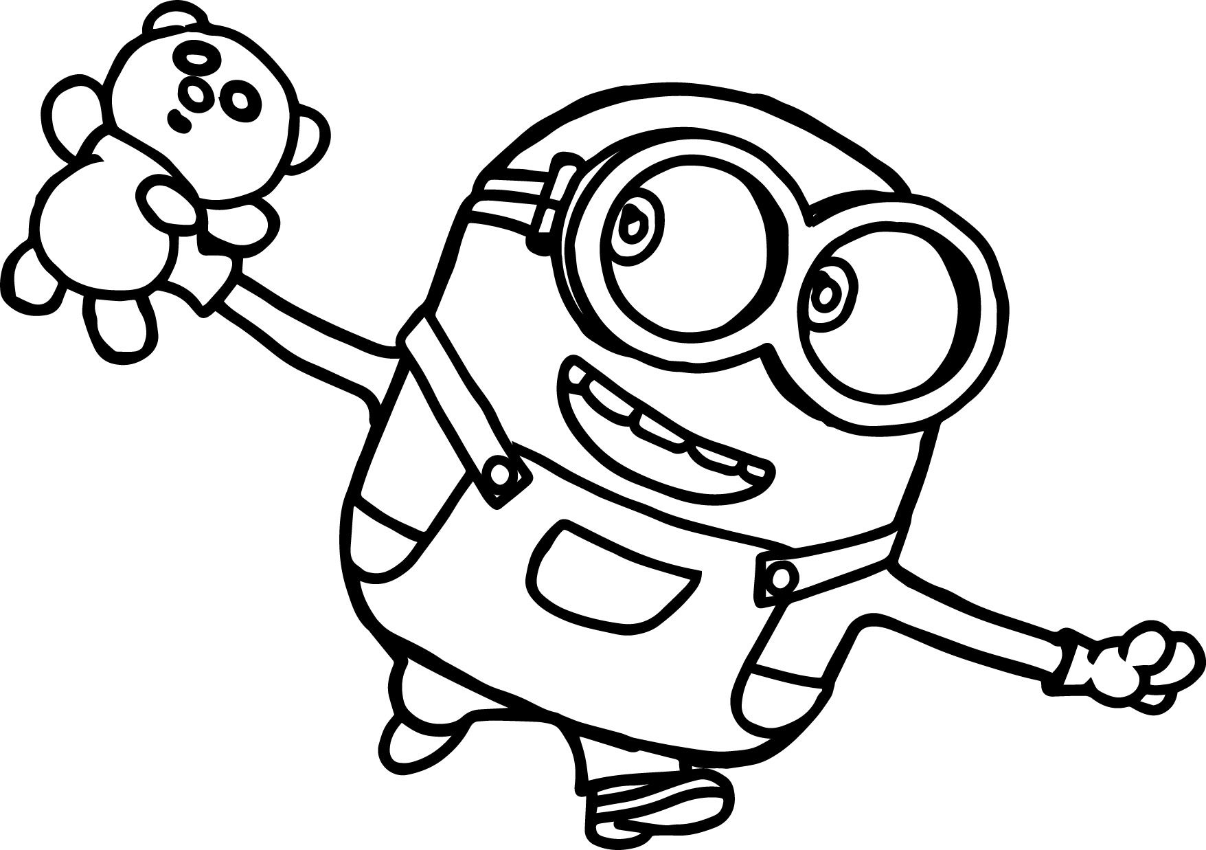 Minion Coloring Pages Bob  Download 2q - Save it to your computer