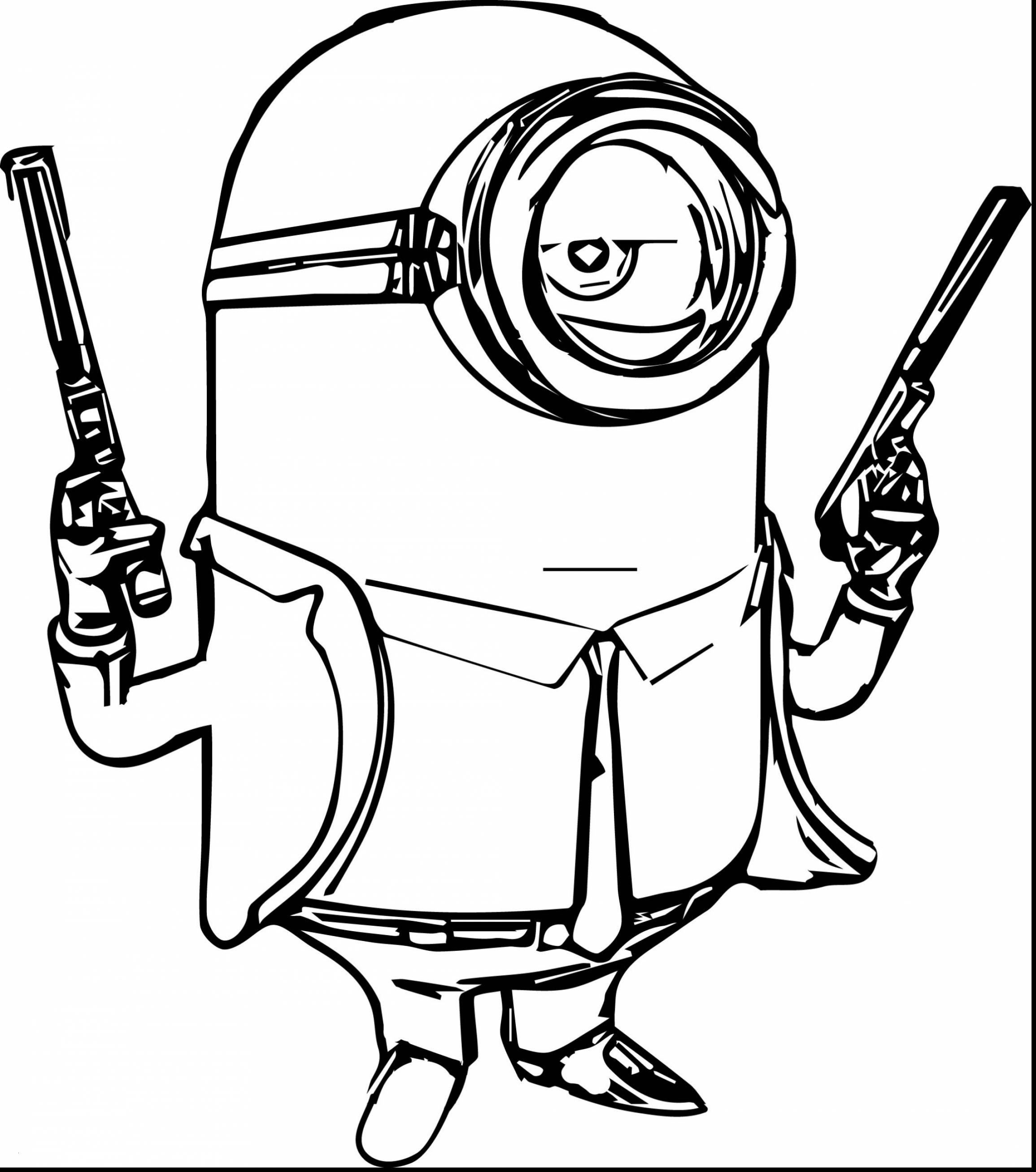 Minion Coloring Pages Bob  Download 8q - Save it to your computer