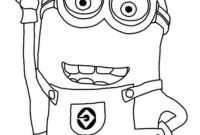 Minion Coloring Pages Bob - Cute Despicable Me Minion Coloring Pages