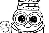 Minion Coloring Pages Bob - Cute Minion to Color