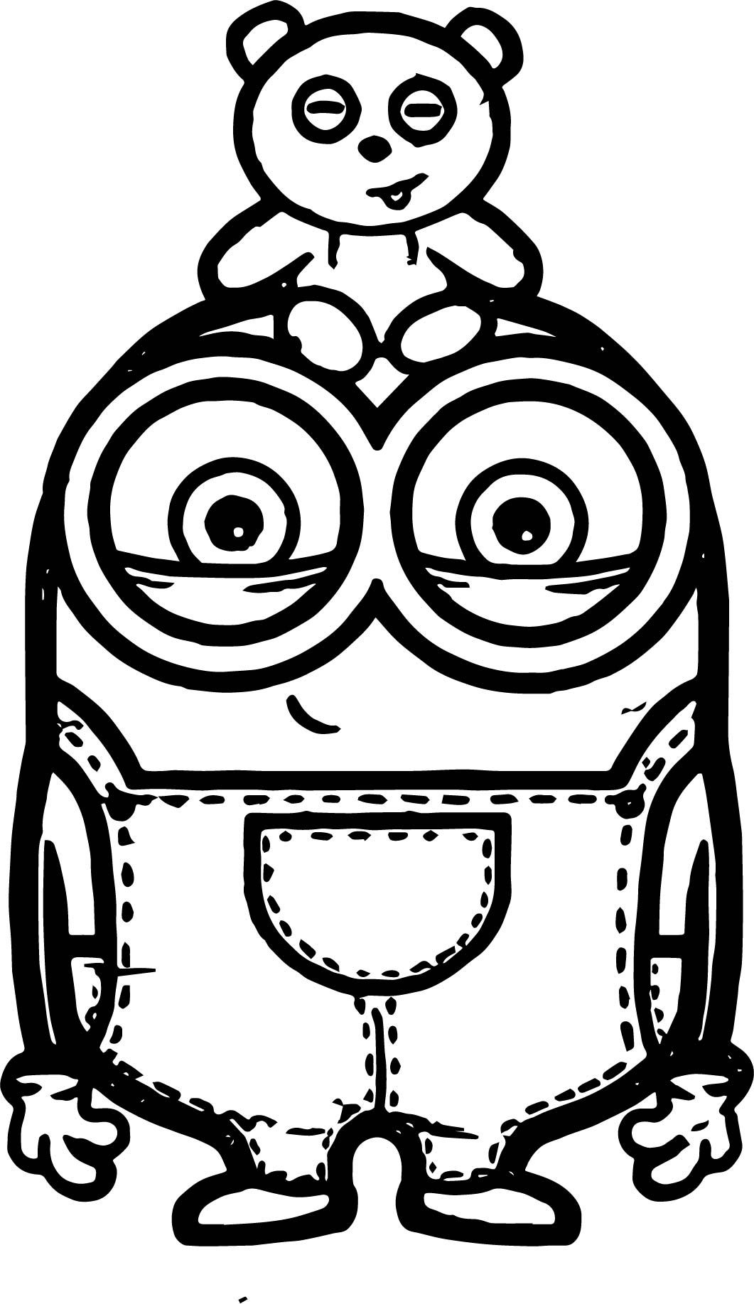 Minion Coloring Pages Bob  Download 15j - To print for your project