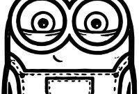 Minion Movie Coloring Pages - Minion Bob and Bear toy Coloring Page Wecoloringpage