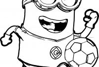 Minion Movie Coloring Pages - Minion soccer Player Coloring Pages