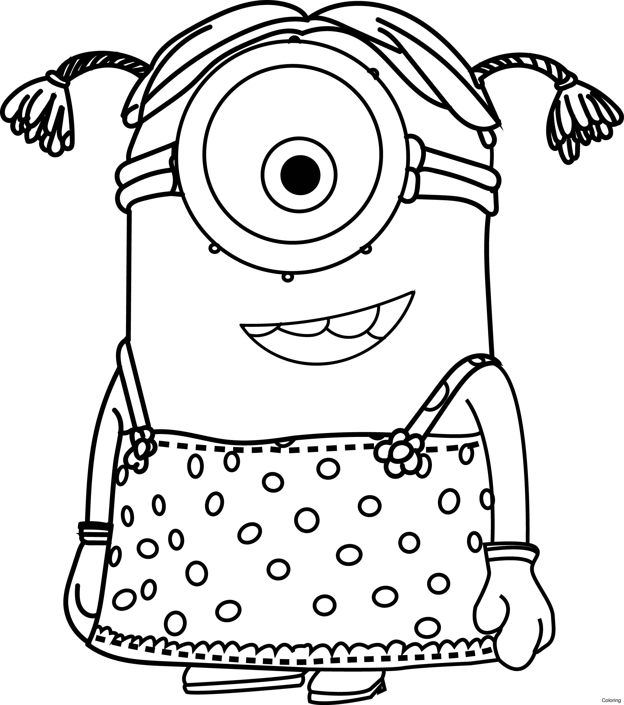 Minion Printable Coloring Pages  Collection 3a - To print for your project