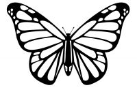 Monarch butterfly Coloring Pages Free - the First Stencil Shaped Like A Monarch butterfly Description From