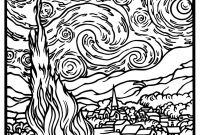 Monet Coloring Pages - Free Coloring Page Coloring Adult Van Gogh Starry Night Large