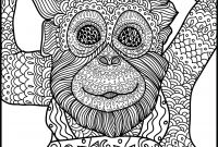 Monkey Coloring Pages for Preschoolers - Animal Coloring Page Monkey Printable Adult Coloring Page