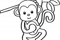 Monkey Coloring Pages for Preschoolers - Free Printable Coloring Pages Of Cartoons Nature Animals and Many