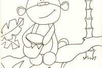 Monkey Coloring Pages for Preschoolers - Paris Did A Coloring Page for Bean and Kids to Color and Use for Our