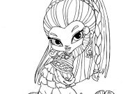 Monster High Coloring Pages - Baby Nefera De Nile by Jadedragonne