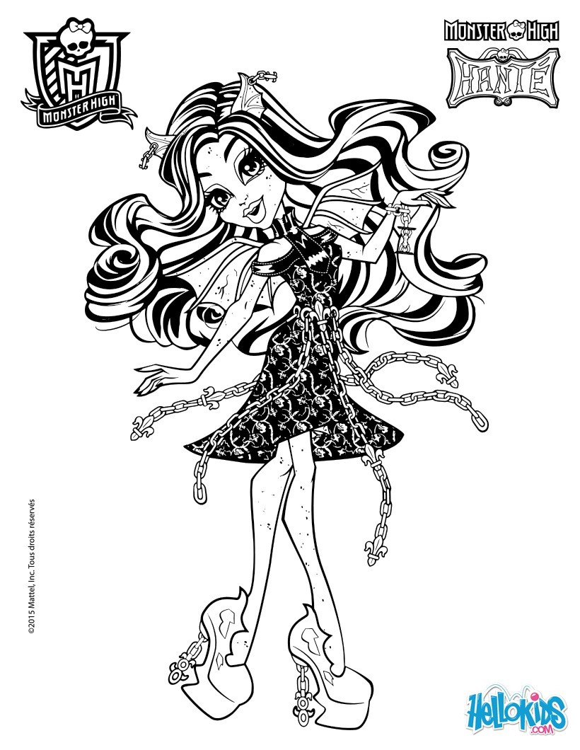 Monster High Coloring Pages  Download 11a - To print for your project