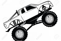 Monster Truck Coloring Pages - Best Monster Truck Coloring Pages Vector Drawing