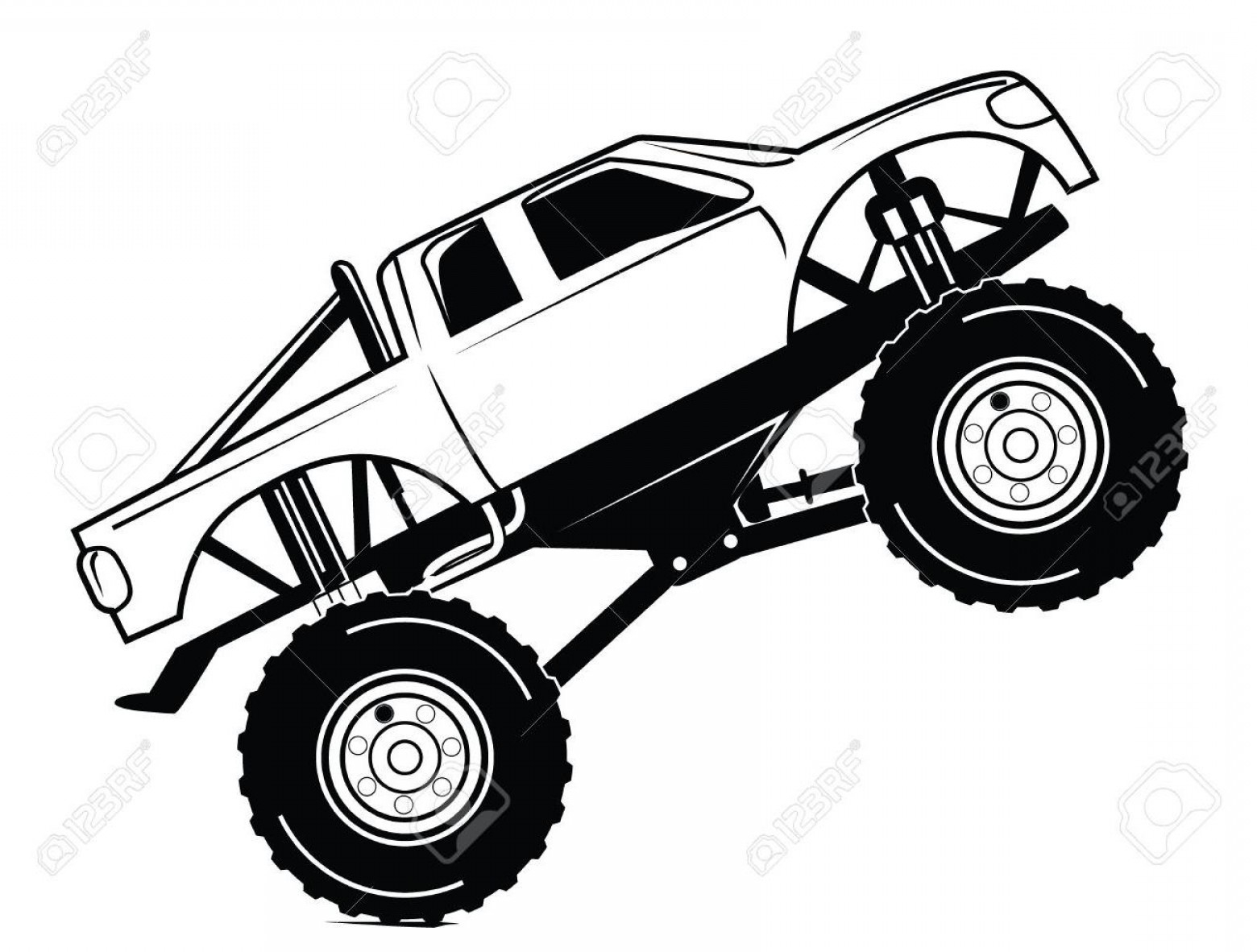 Monster Truck Coloring Pages Download | Free Coloring Sheets
