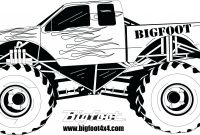Monster Truck Coloring Pages - Revealing Truck Picture to Color Police Coloring Page Free Printable