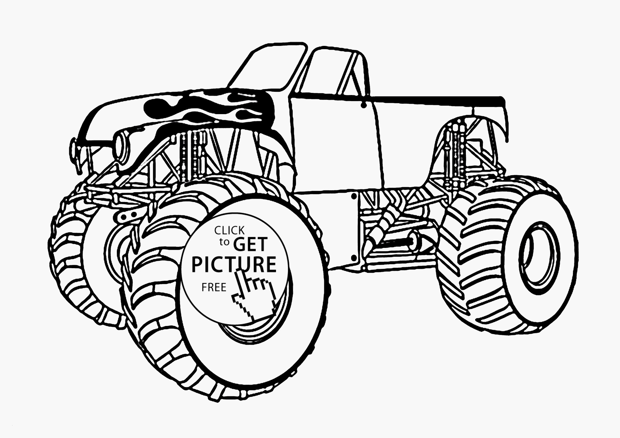 Monster Trucks Printable Coloring Pages  Gallery 18p - To print for your project