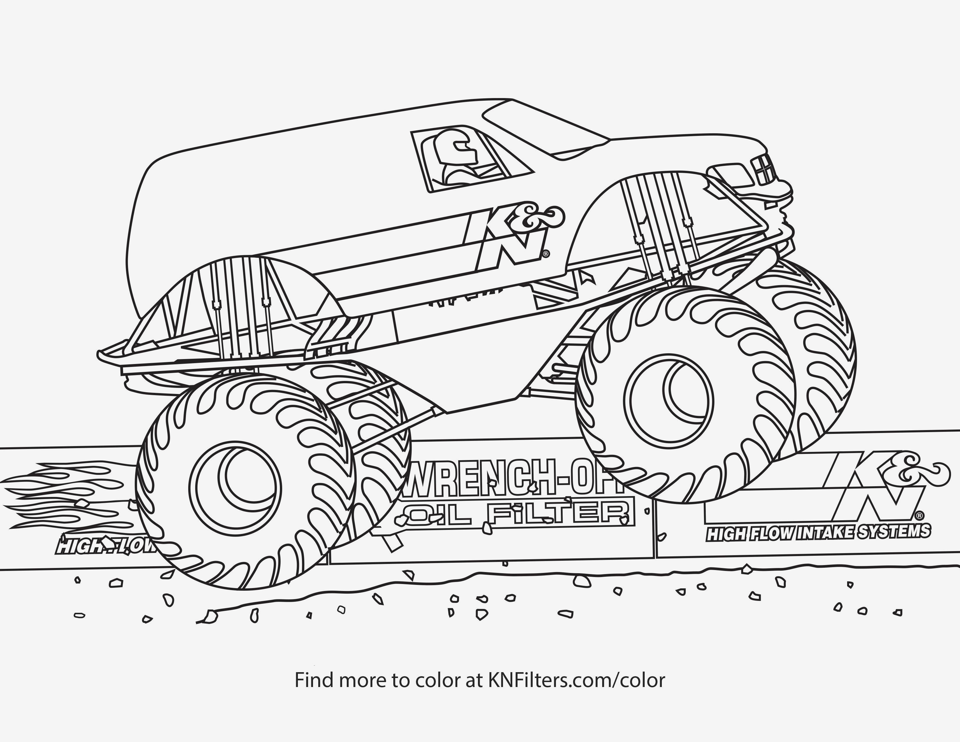 Monster Trucks Printable Coloring Pages  Gallery 13i - To print for your project
