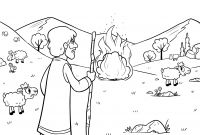 Moses and the Burning Bush Coloring Pages - Burning Bush Coloring Page Coloring Pages Coloring Pages