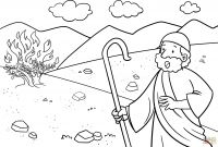 Moses and the Burning Bush Coloring Pages - Mikalhameed Just Another Wordpress Site