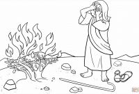 Moses and the Burning Bush Coloring Pages - Moses and Jethro Coloring Pages Best Image Coloring Page