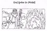 Moses and the Burning Bush Coloring Pages - Moses and the Burning Bush Coloring Pages Moses and the Burning Bush