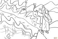 Moses and the Burning Bush Coloring Pages - Moses Burning Bush Coloring Page Awesome Moses Red Sea Coloring Page